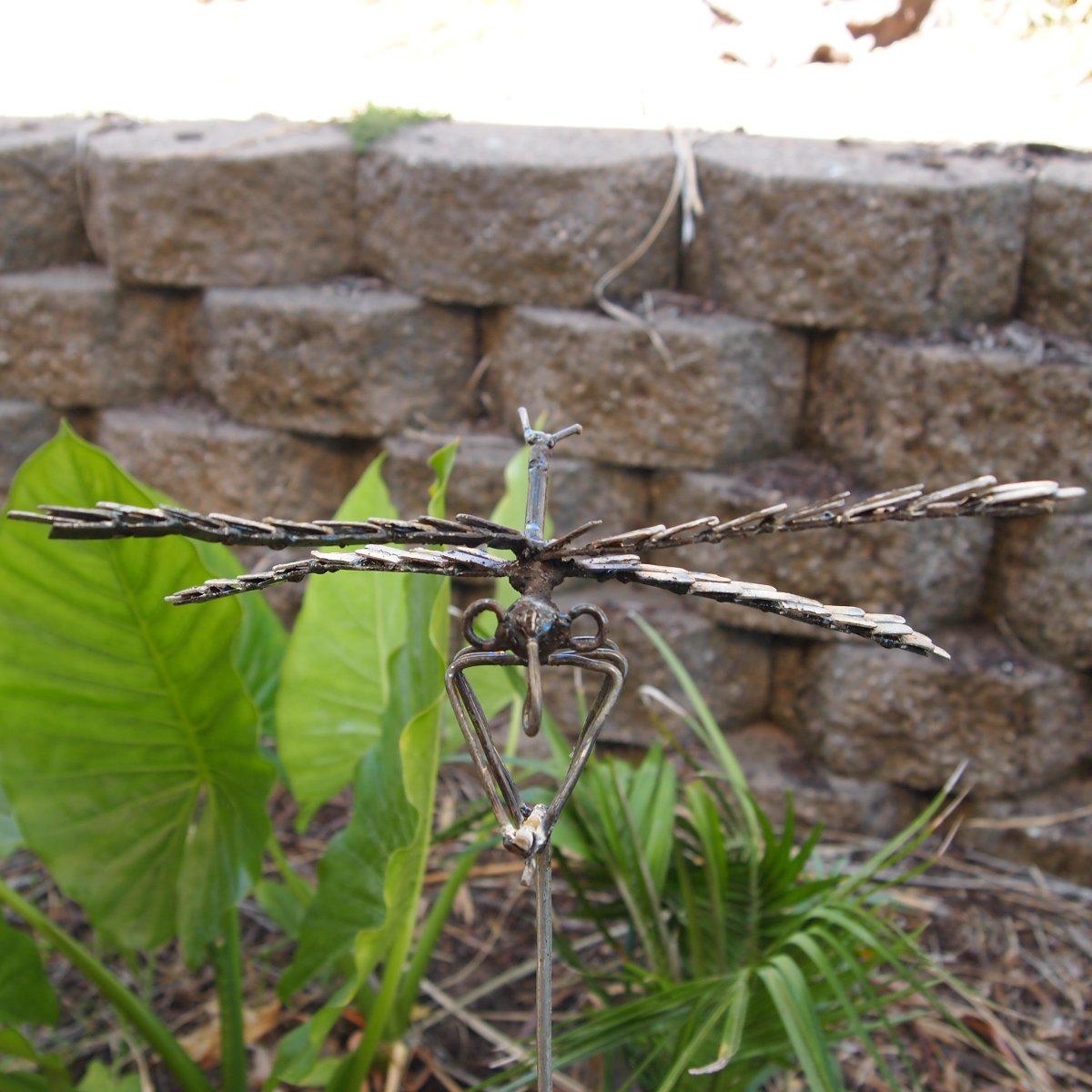 dragonfly on rod metal garden art garden zoo. Black Bedroom Furniture Sets. Home Design Ideas