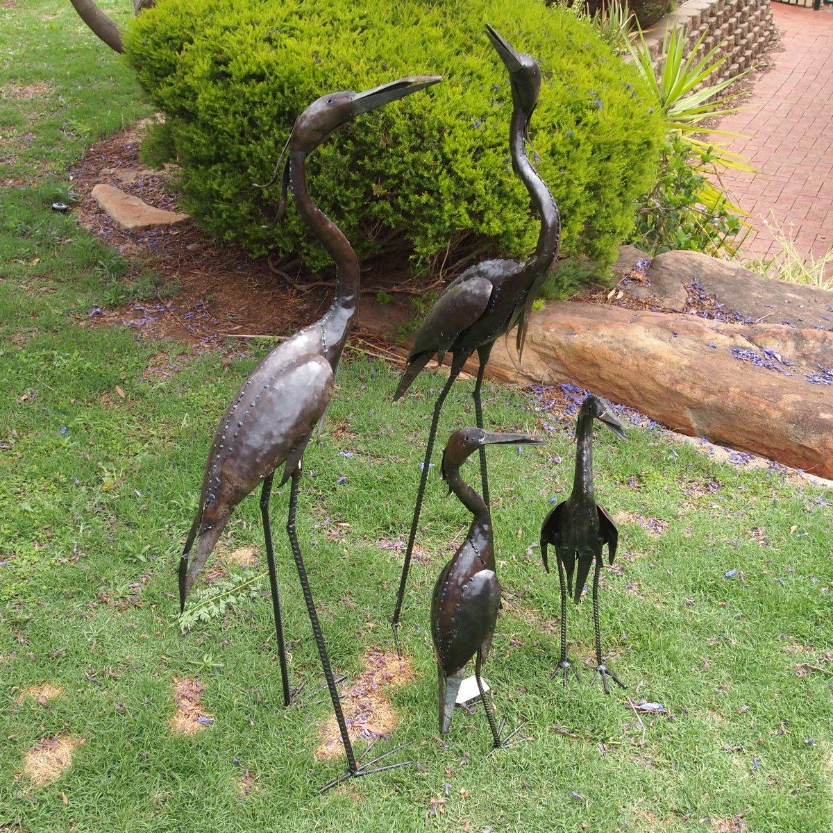 brolga metal garden art garden zoo