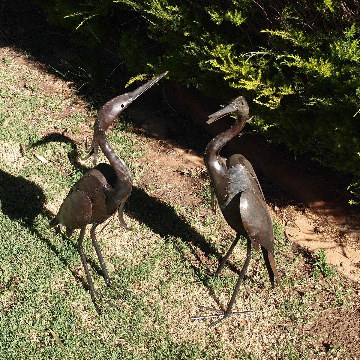 Egret Metal Garden Art Garden Zoo