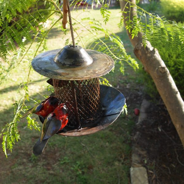 Bird Feeder Mesh Metal Garden Art
