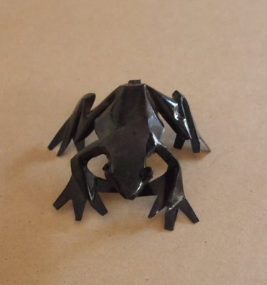 The Frogs are handmade from recycled metal makes a unique gift