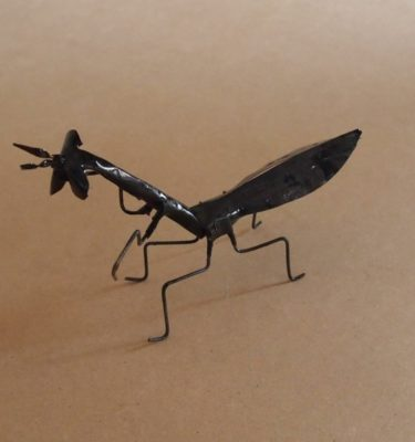The Praying Mantis handmade from recycled metal makes a unique gift