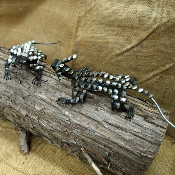 Shingleback metal garden sculpture