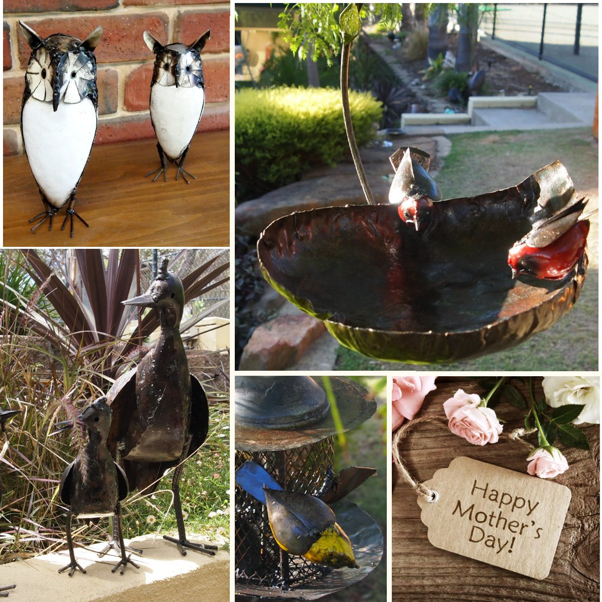 Unique Mothers Day gifts with Metal Garden Ornaments